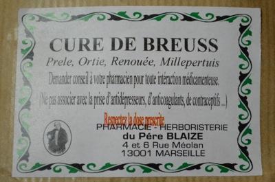 Etiquette Sachet Tisane Renale Père Blaize
