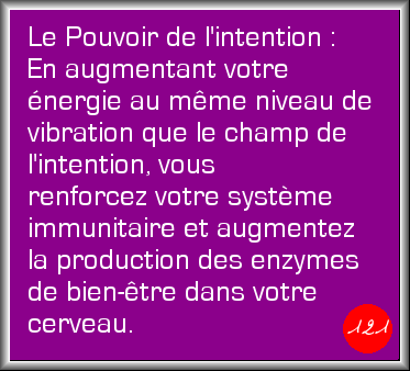 L'intention du jour : Vendredi 1er mai 2015