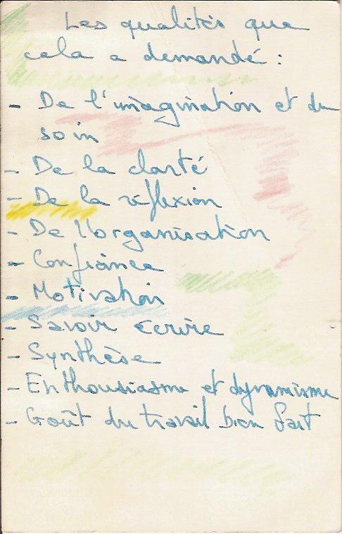 Carte De Reussite Verso